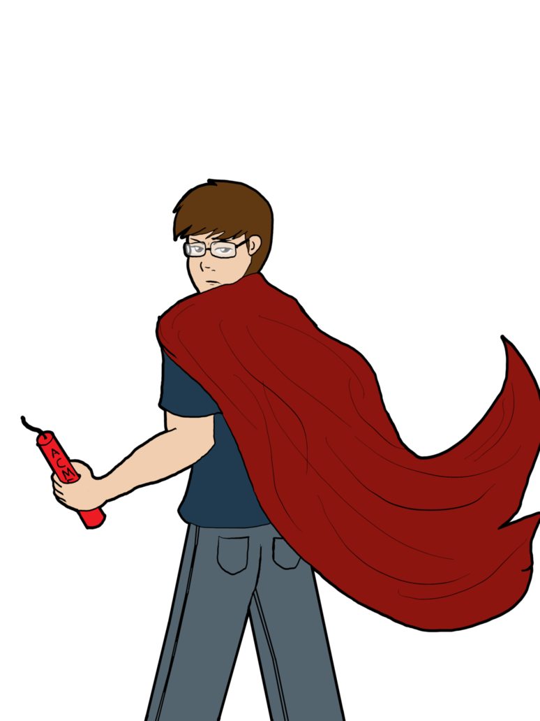 cartoon hero animated